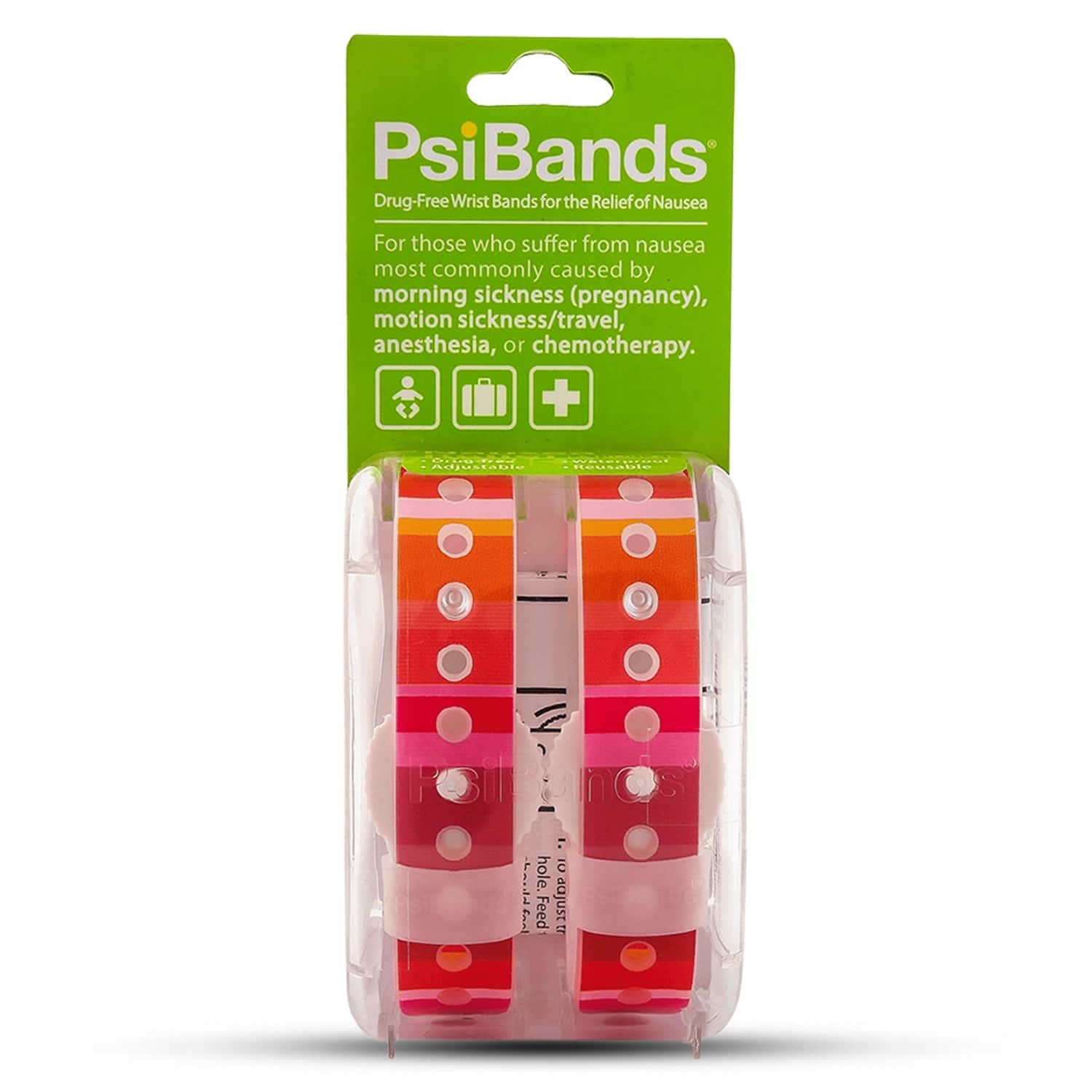 Psi Bands Anti Nausea Wrist Bands - Color Play