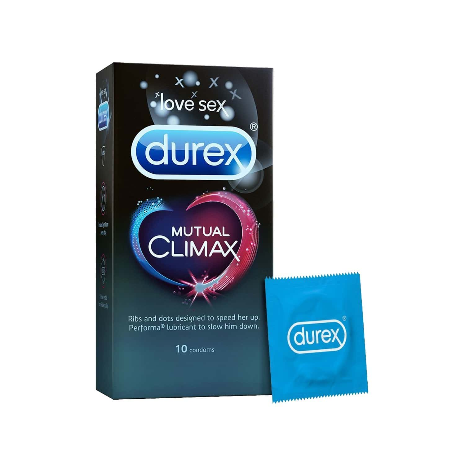 Durex Mutual Climax Packet Of 10 Condoms
