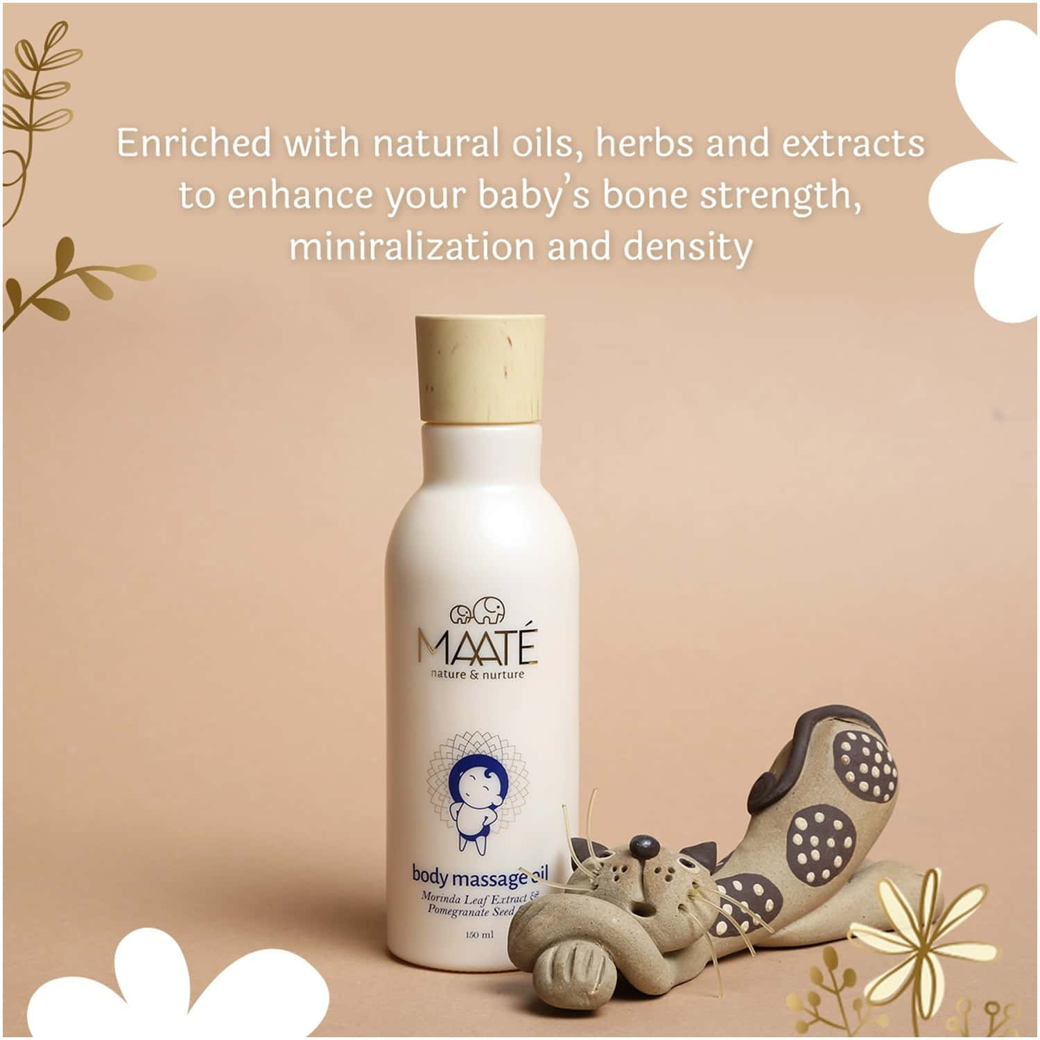 Maate Baby Body Massage Oil Enriched With Nature's Best Herbs, Premium Oils And Plant Extracts 150ml