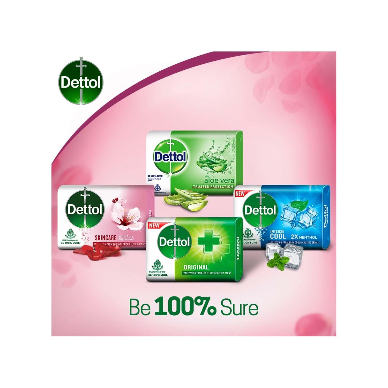 Dettol Skincare Germ Protection Bathing Soap Bar - 125g Each, Buy 4 Get 1