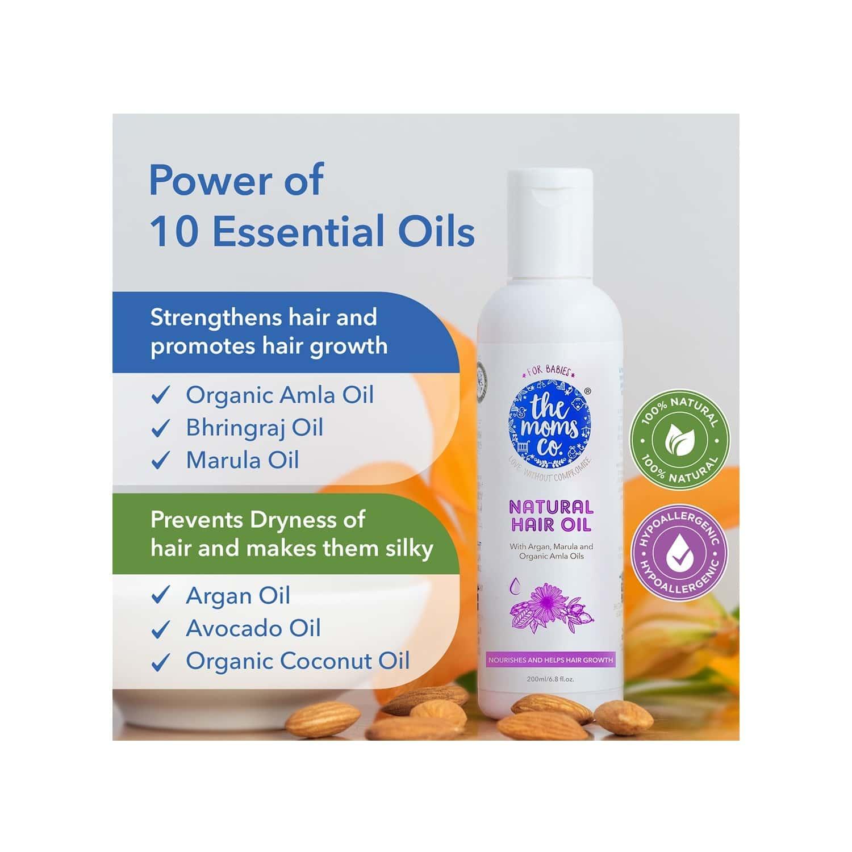 The Moms Co. Natural Baby  Hair Oil  Bottle Of 200 Ml