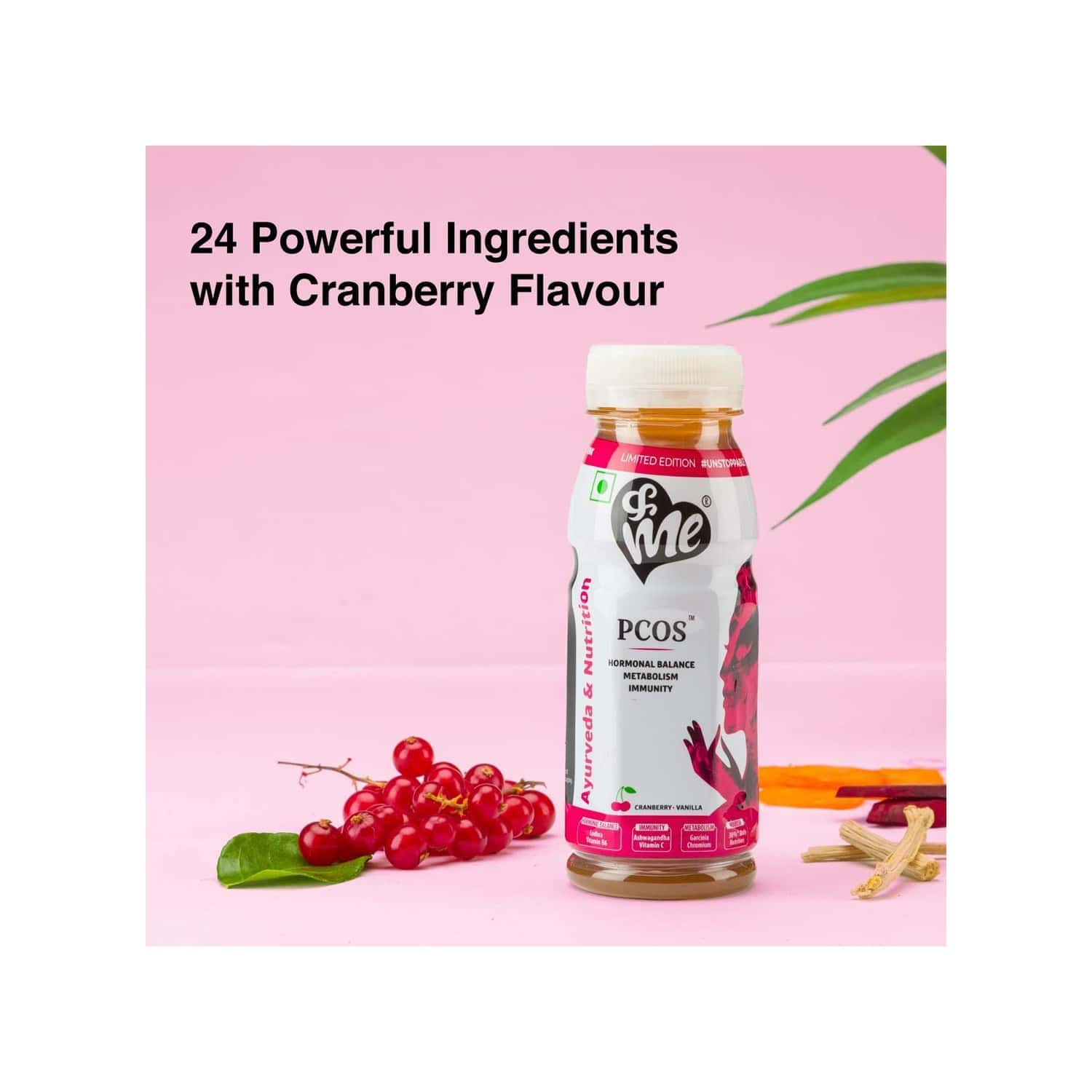 Andme Pcos, Pcod Cranberry Women Health Drink - 200 Ml