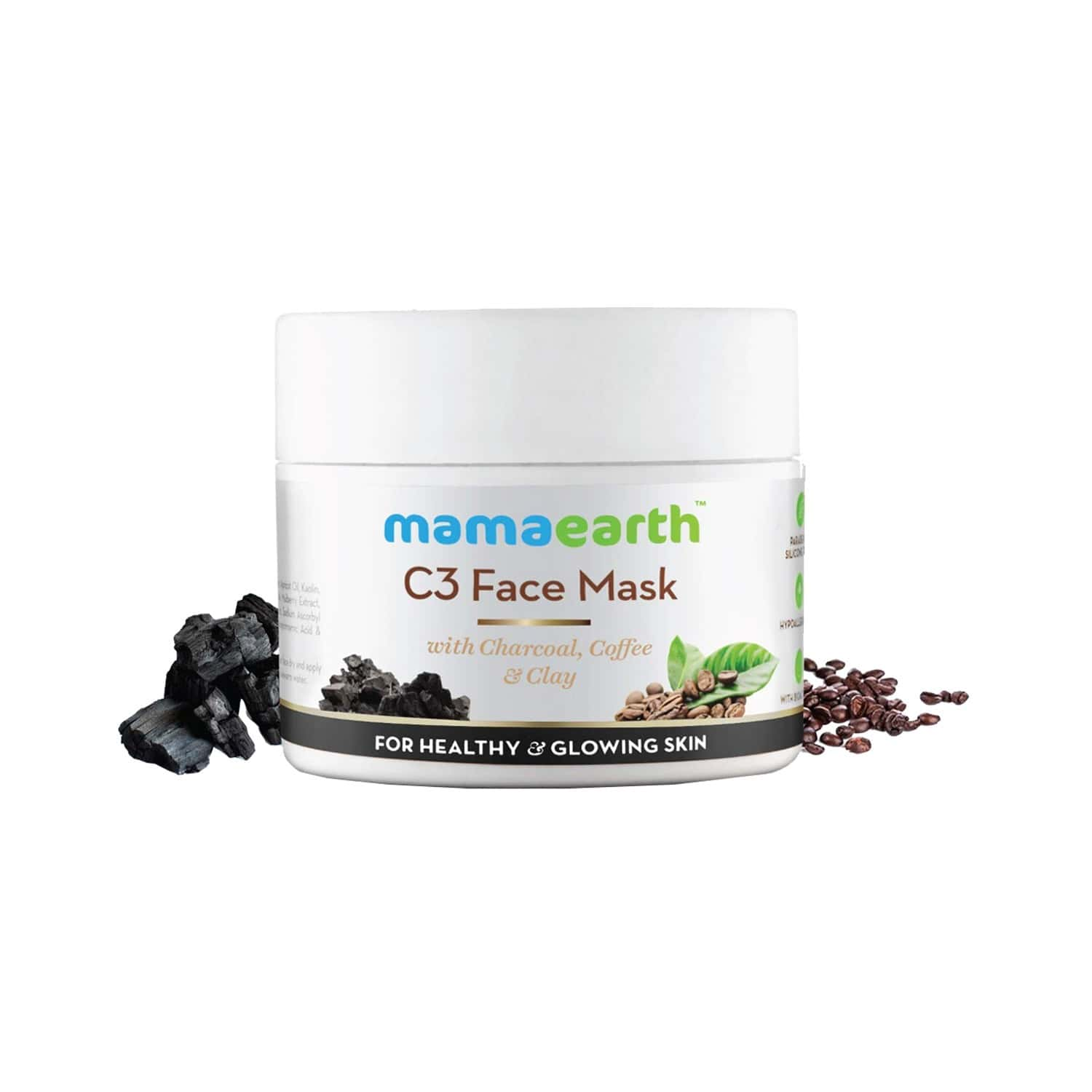 Mamaearth Charcoal, Coffee And Clay Face Mask - 100ml