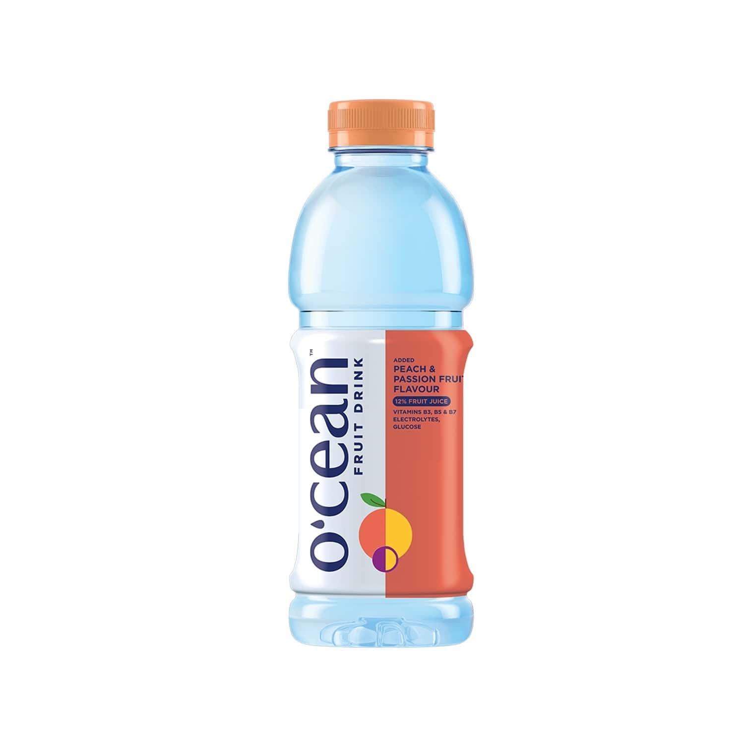 Ocean Peach Passion Fruit Drink  Bottle Of 500 Ml