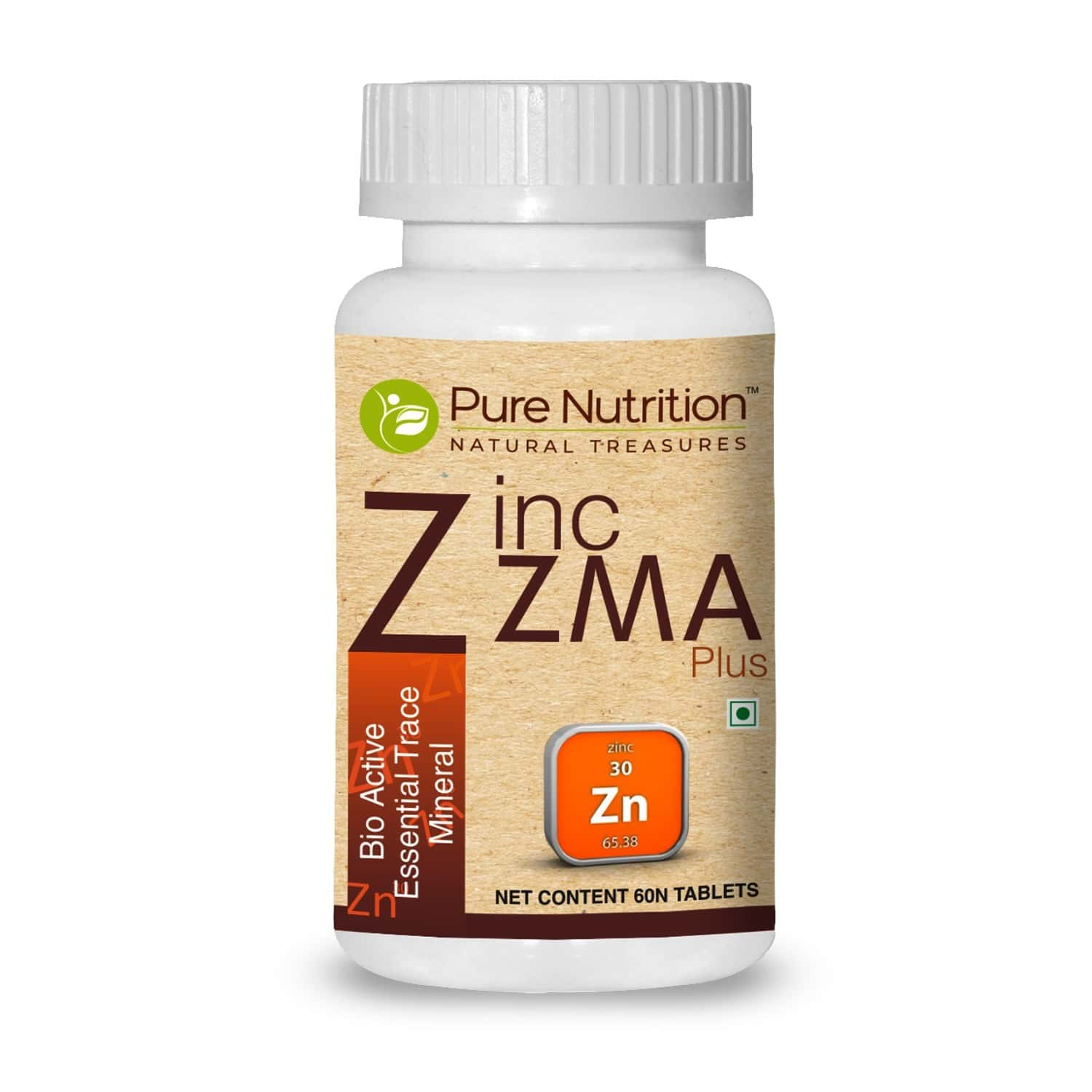 Pure Nutrition Zinc Zma Plus (bio Active Essential Trace Minerals) - 60 Tablets