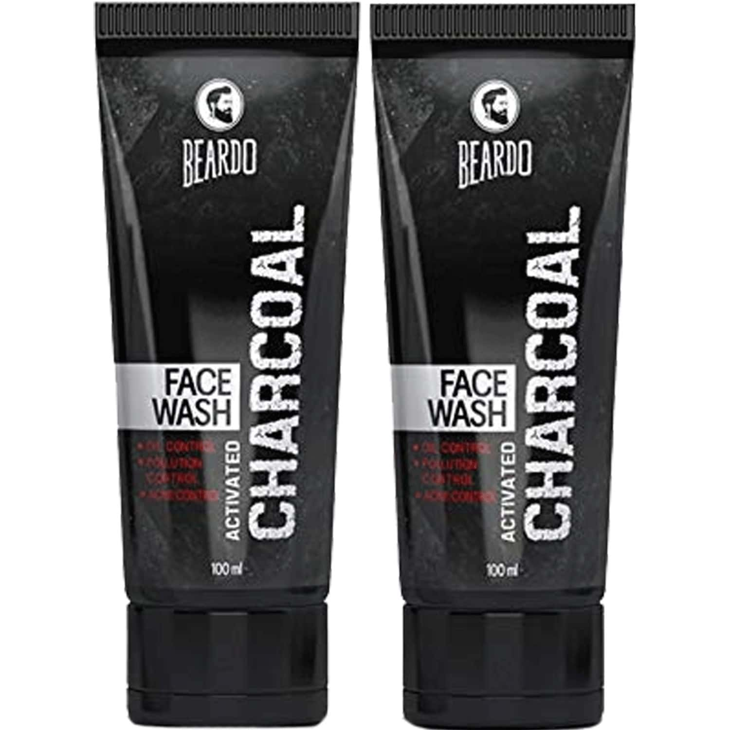 Beardo Activated Charcoal Anti-pollution Facewash - 100 Ml (pack Of 2)