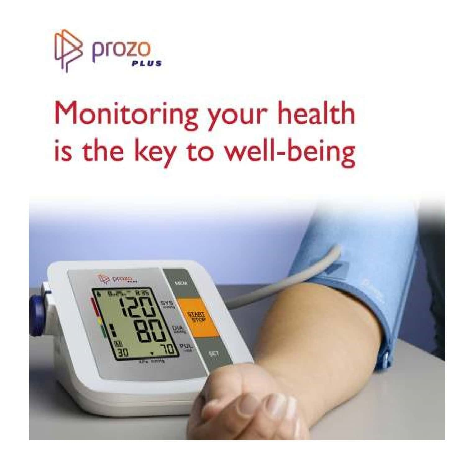 Prozo Plus Fully Automatic Upper Arm Blood Pressure Monitor, Bp Monitor With Premium Quality