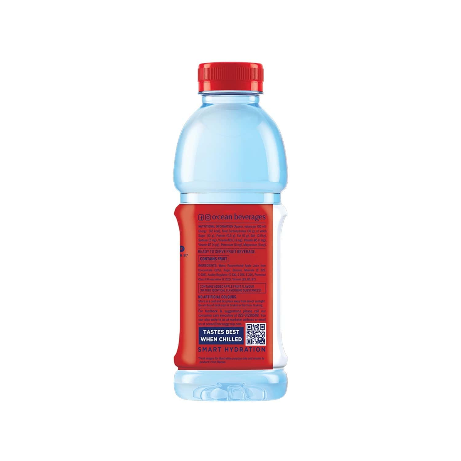 O'cean Crispy Apple Fruit Drink Bottle Of 1 L (pack Of 2 X 500ml)
