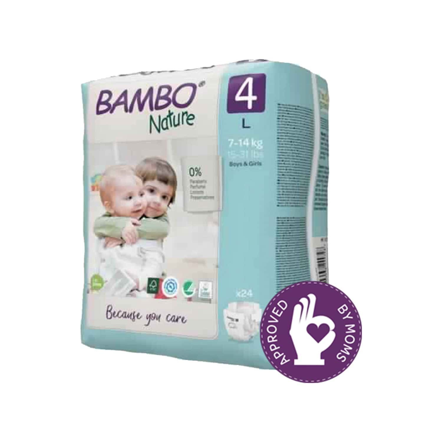 Bambo Nature Large Size Diaper With Wetness Indicator - 24 Diapers