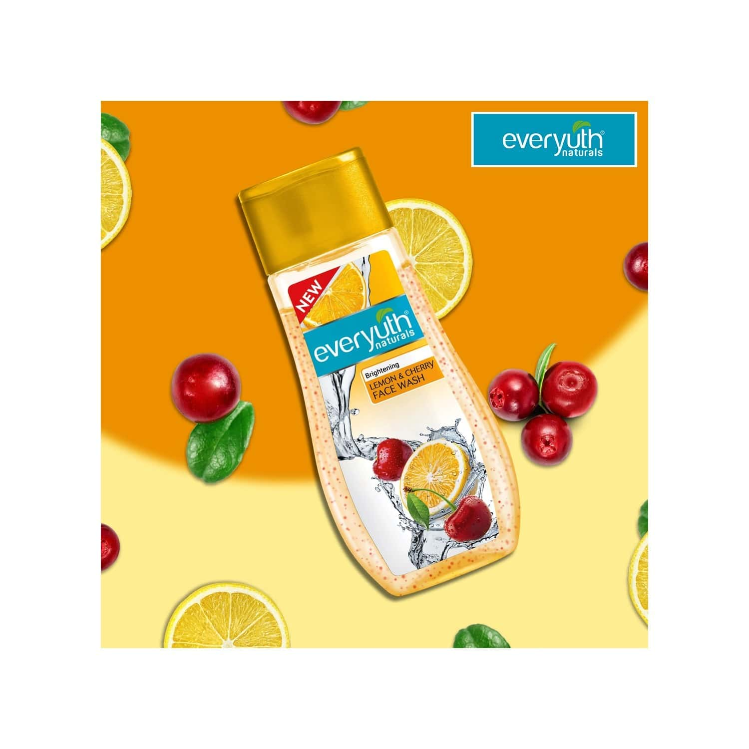 Everyuth Naturals Brightening Lemon & Cherry Face Wash - 100g