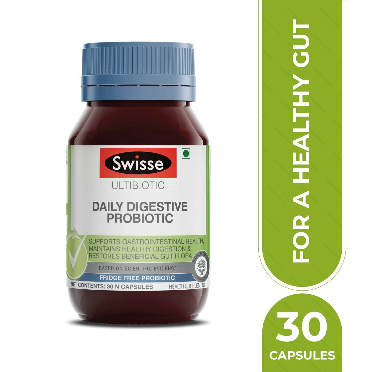 Swisse Ultibiotic Probiotic Supplement For Immunity And Digestive Health Gut Health - 30 Capsules