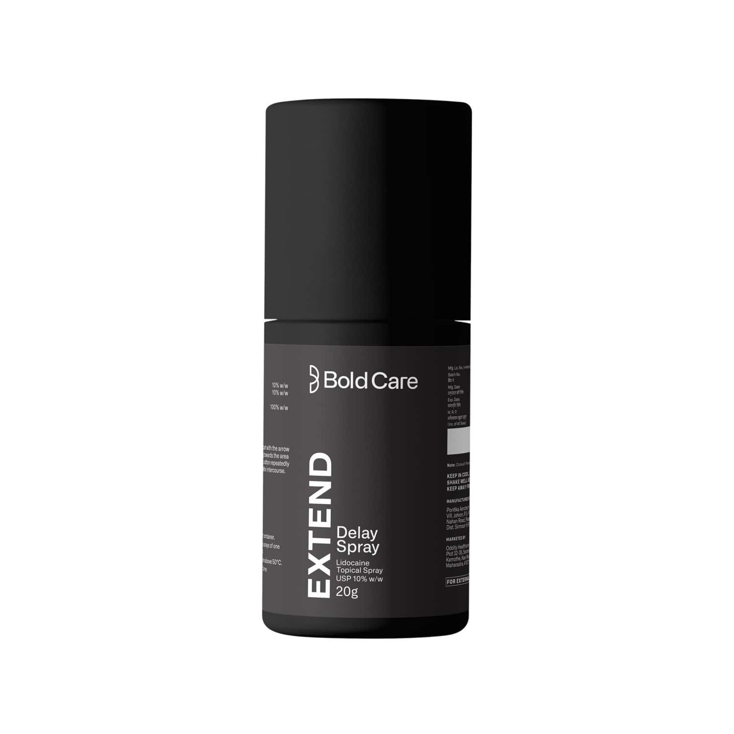 Bold Care Extend Delay Spray For Men - With Lidocaine 10% (20g)