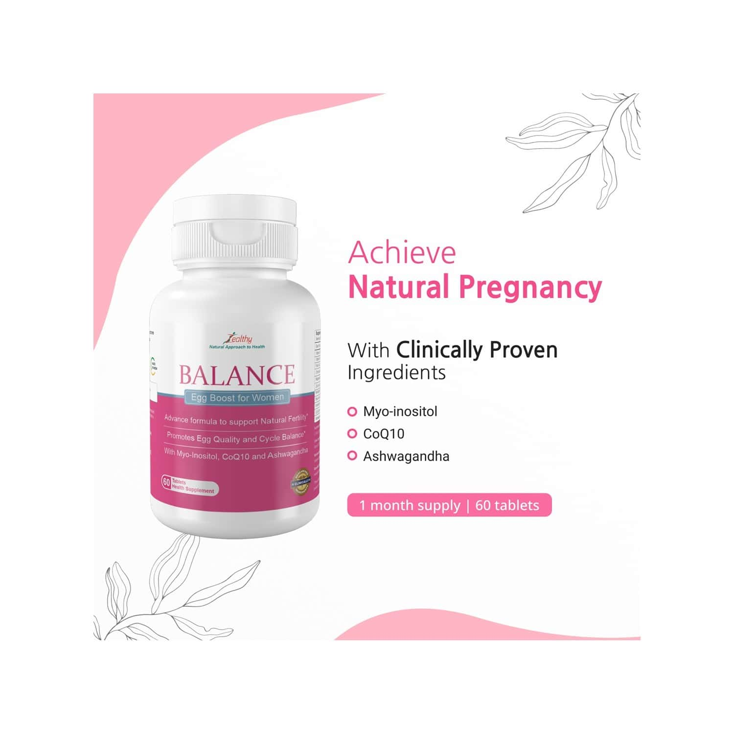 Zealthy Balance For Women - 60 Tablets