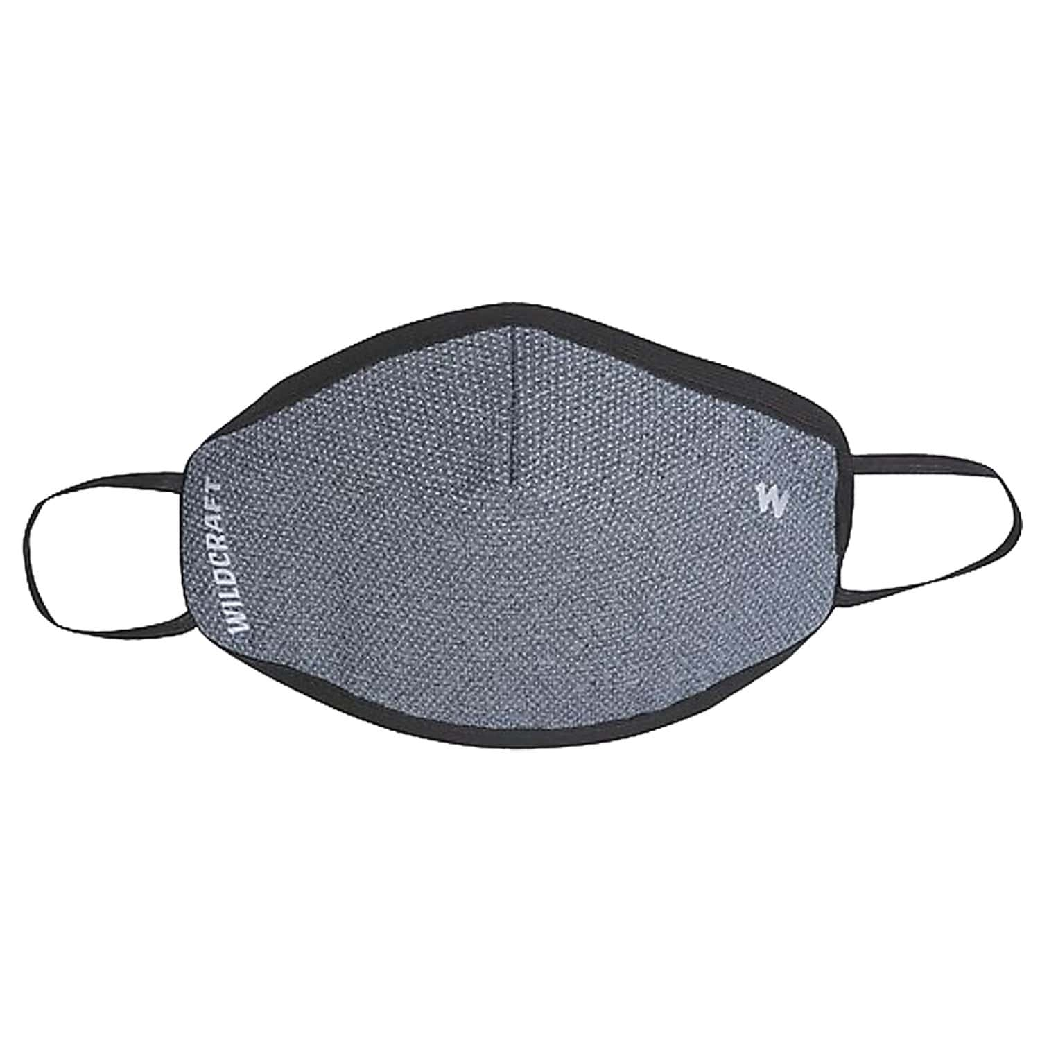 Wildcraft Supermask W95+ Reusable Outdoor Respirator Face Mask Anti-dust  Anti-bacterial   Anti-pollution- Size M (grey)