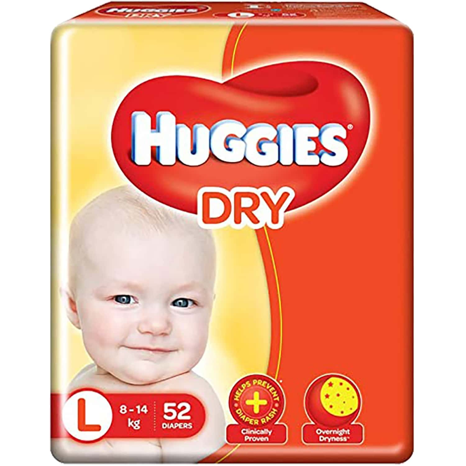 Huggies New Dry Large Size Diapers - 52 Count