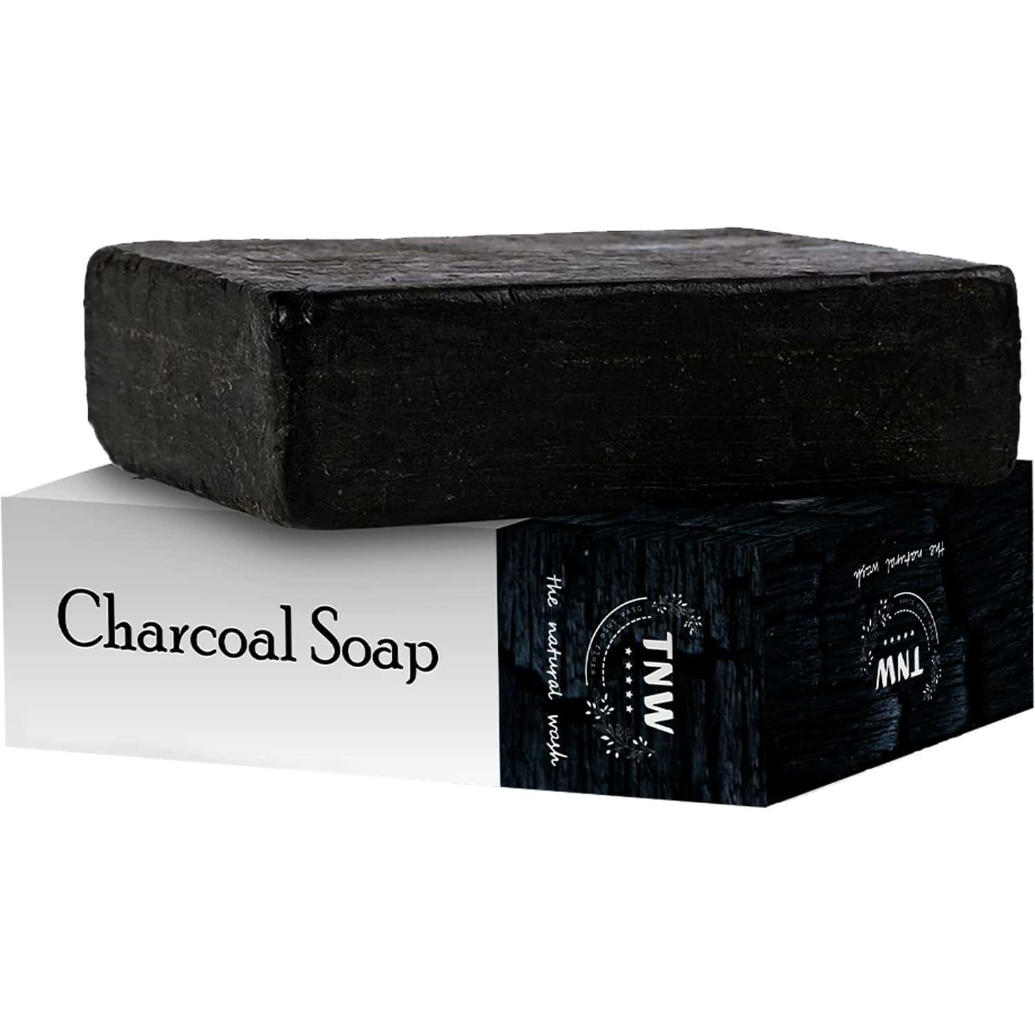 Tnw -the Natural Wash Handmade Activated Charcoal Soap With Anti-pollution Effect - 100 Gm
