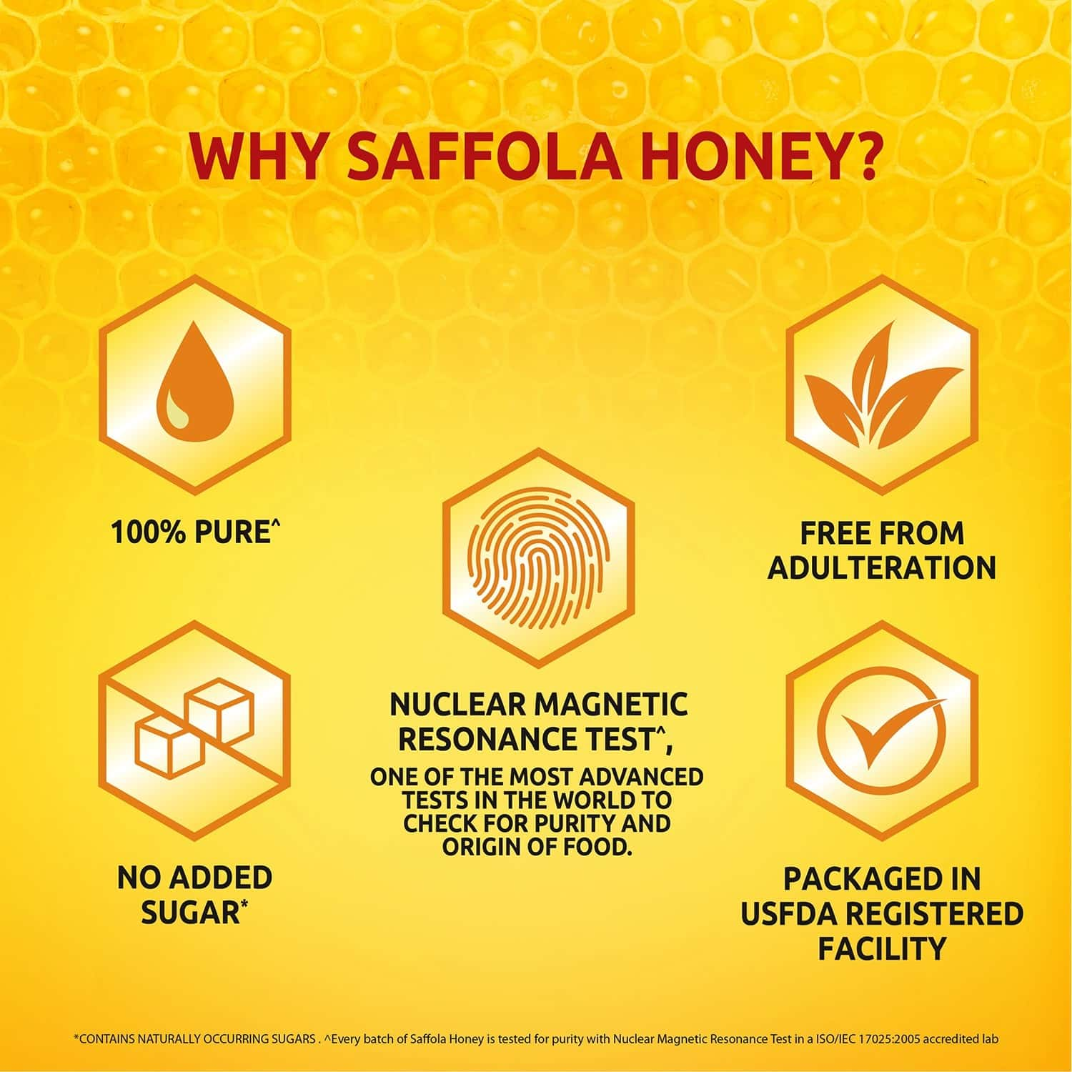 Saffola Honey -100% Pure, Nmr Tested - 400g X 2 , Buy 1 Get 1 Free