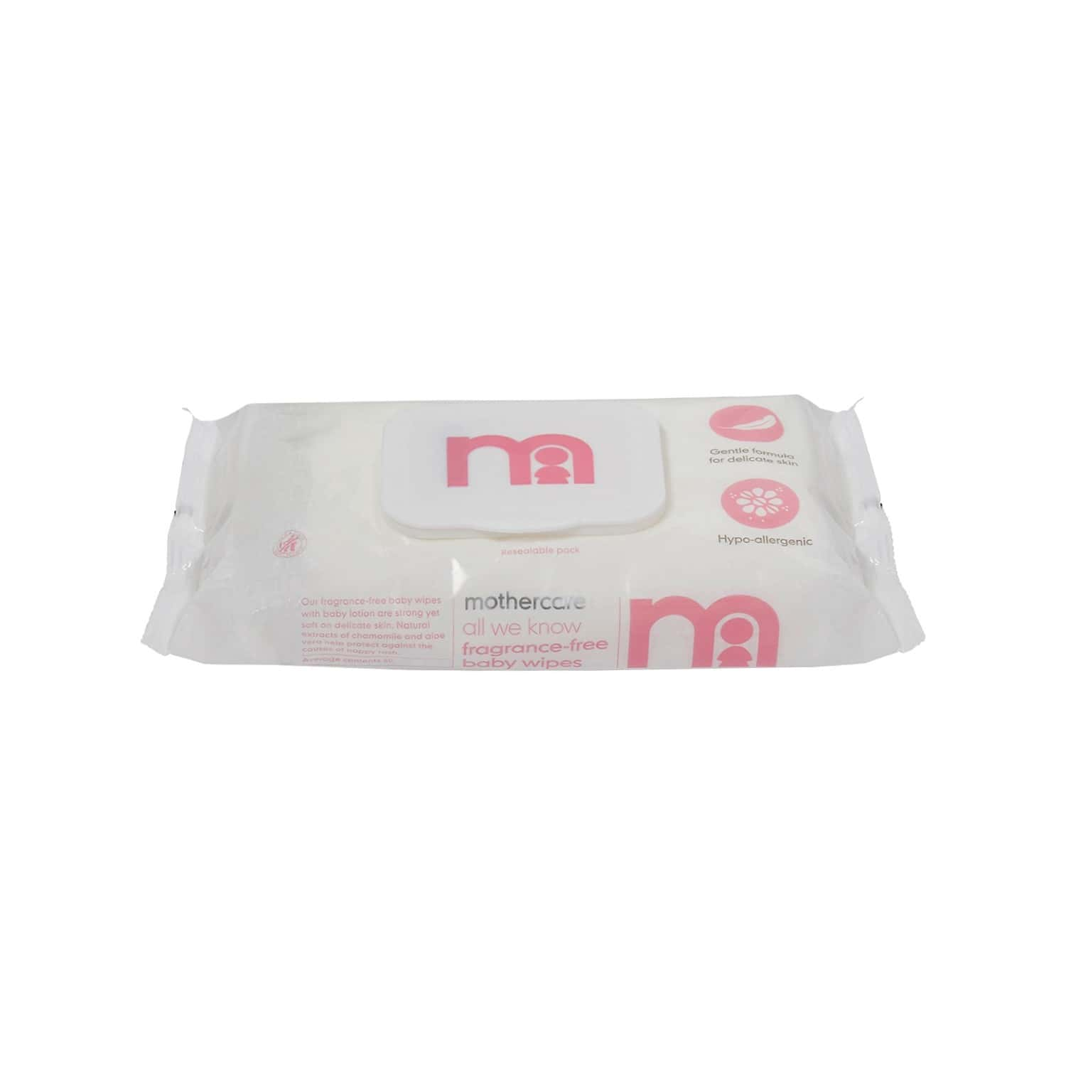 Mothercare All We Know Non Fragranced Baby Wipes - 60 Wipes
