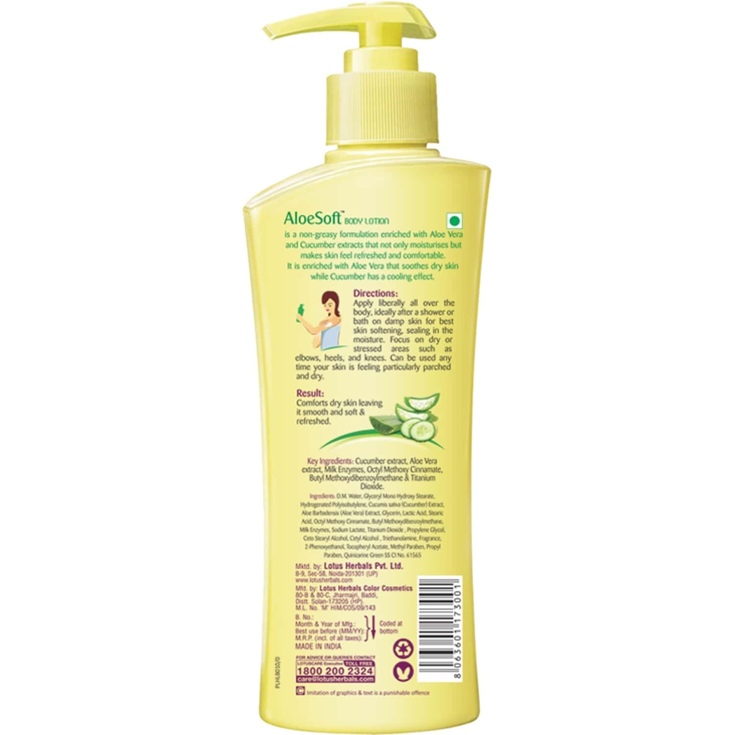 Lotus Herbals Aloesoft Daily Body Lotion Spf 20 250 Ml