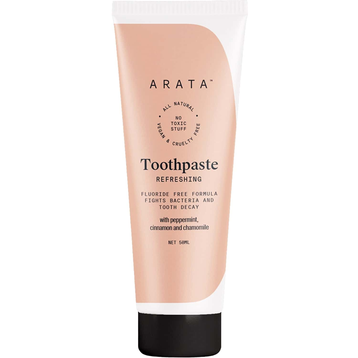 Arata Natural Refreshing Toothpaste With Peppermint, Cinnamon & Chamomile - (50 Ml)