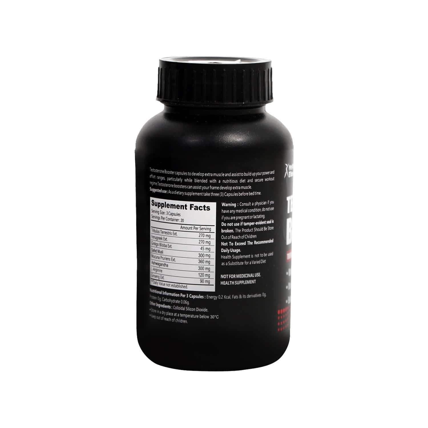 Healthvit Fitness Testosterone Booster Health Supplement Capsules Bottle Of 60
