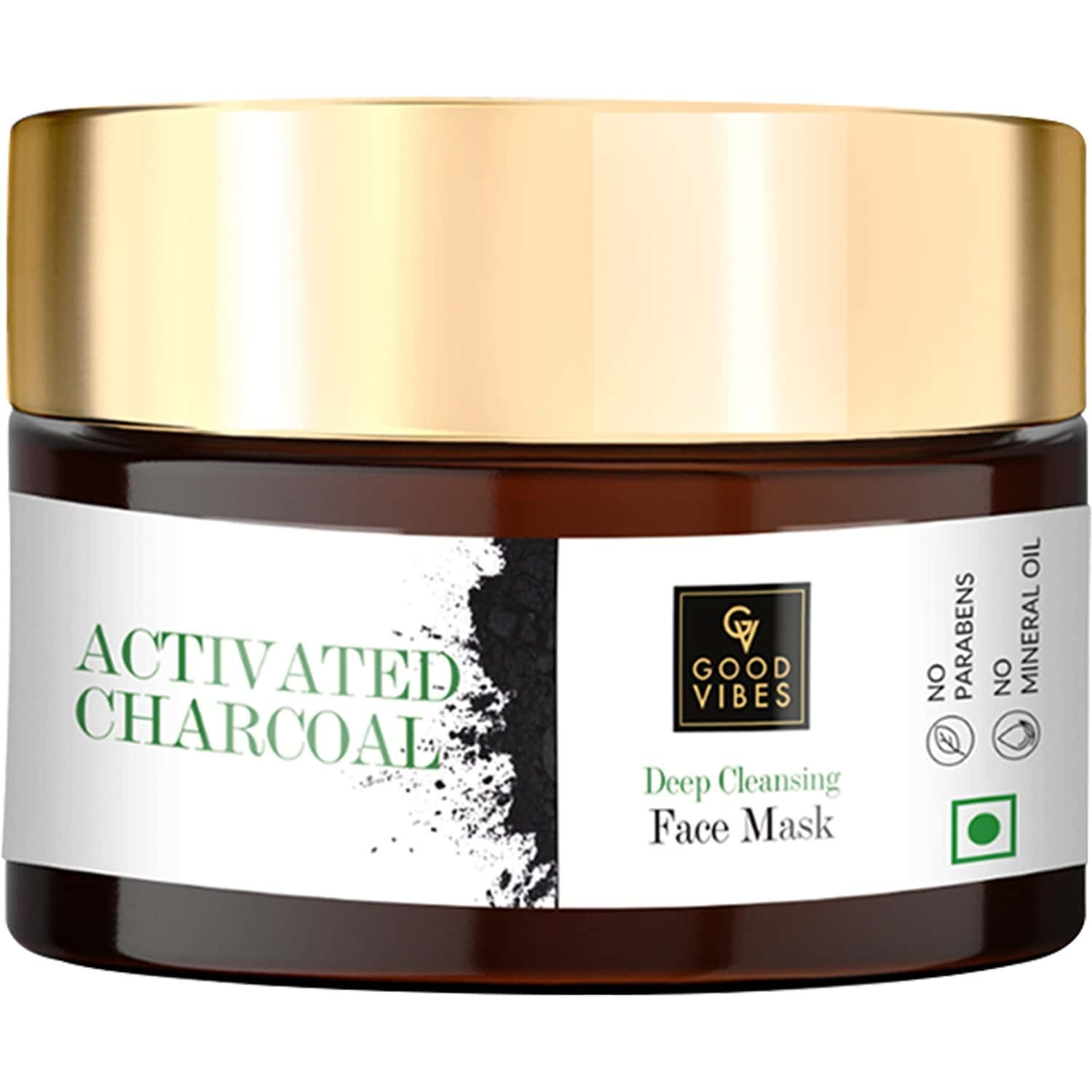 Good Vibes Deep Cleansing Face Mask - Activated Charcoal - 50 Gm