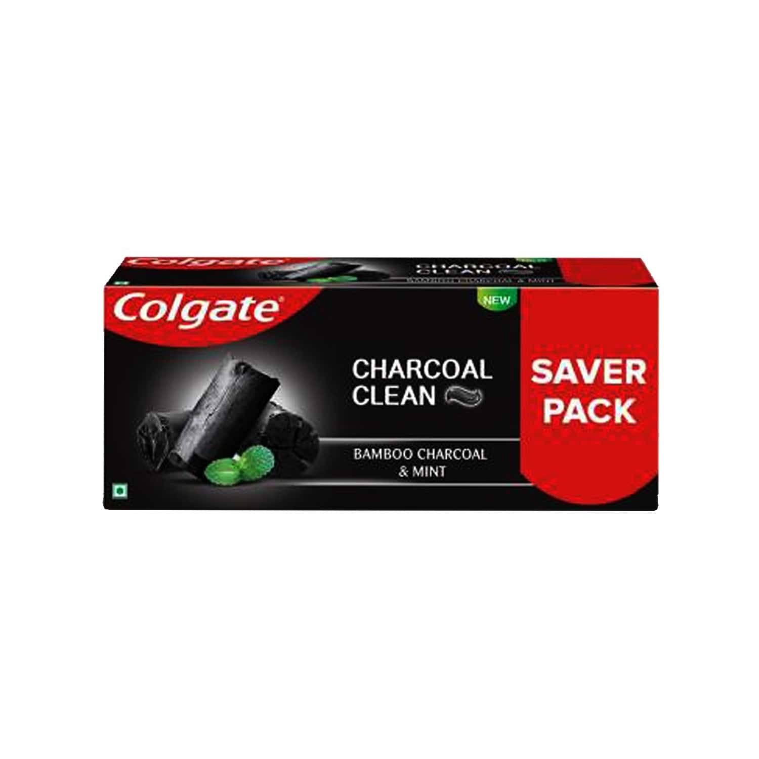 Colgate Charcoal Clean Toothpaste, Bamboo Charcoal And Mint (black Gel) 240g Saver Pack
