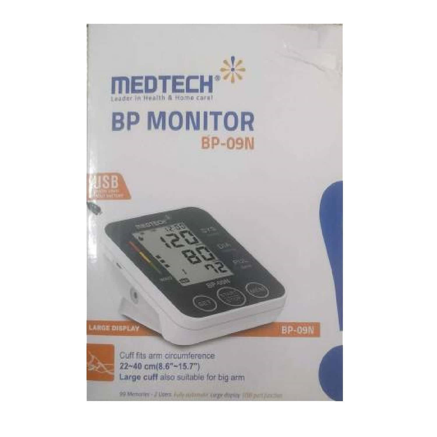 Medtech Bp Monitor Bp-09n (white And Grey) - 1's