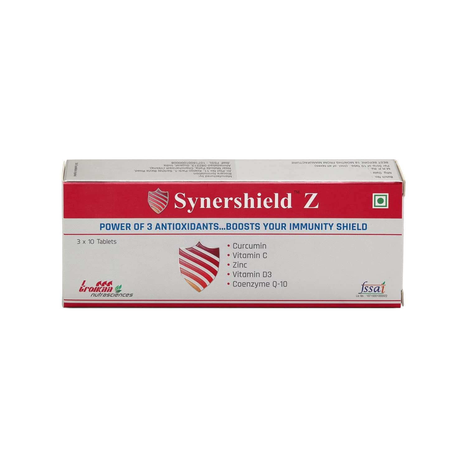 Synershield Z Immunity Booster Health Supplement - 30 Tablets