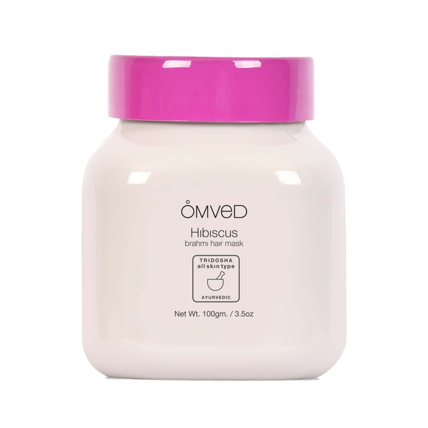 Omved Hibiscus Brahmi Hair Mask - Ayurvedic Hair Pack Powder With 14 Natural Herbs For Dandruff And Itchy Scalp Treatment- 100 G