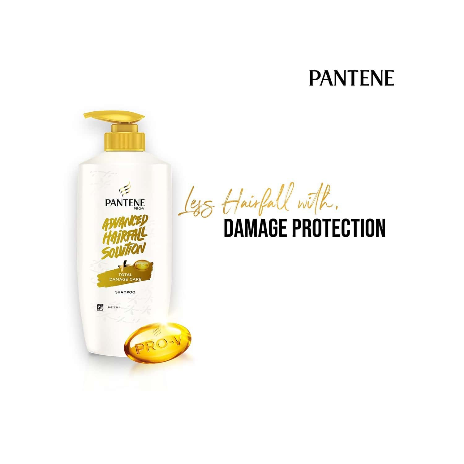 Pantene Advanced Hair Fall Solution Total Damage Care Shampoo - 650ml