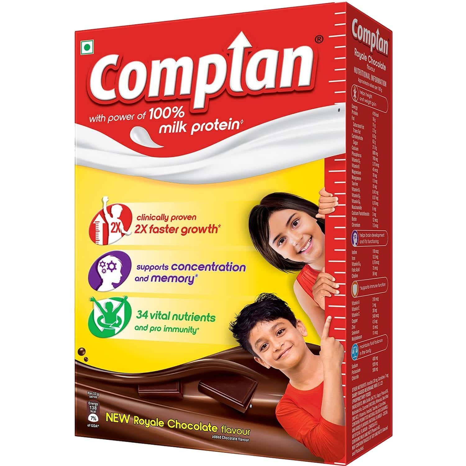 Complan Nutrition And Health Drink Royale Chocolate 750g, Refill Box