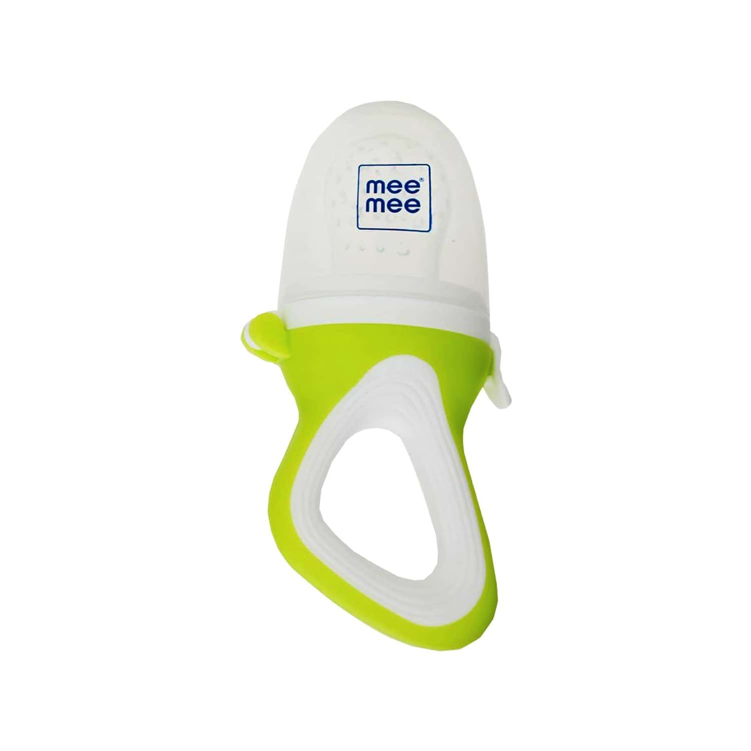 Mee Mee Fruit & Food Nibbler With Silicone Sack (green)