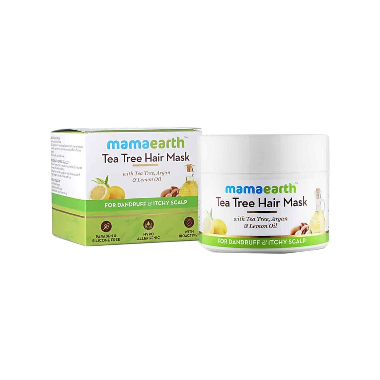 Mamaearth Tea Tree And Lemon Oil Anti Dandruff Hair Mask  Container Of 200 Ml