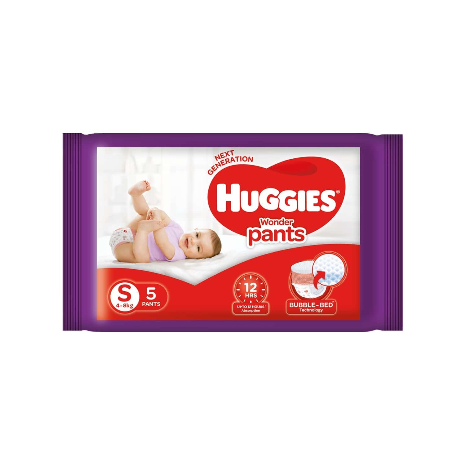 Huggies Wonder Pants Diapers, Small Size - 5 Count