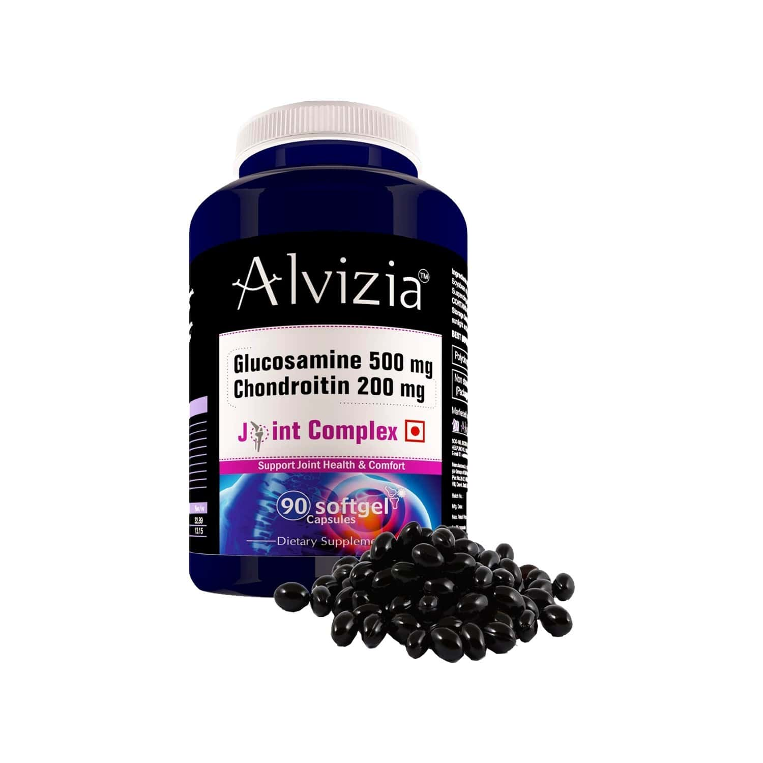 Alvizia Glucosamine 500mg - Chondroitin - 200 Mg Joint Support Capsules Bottle Of 90