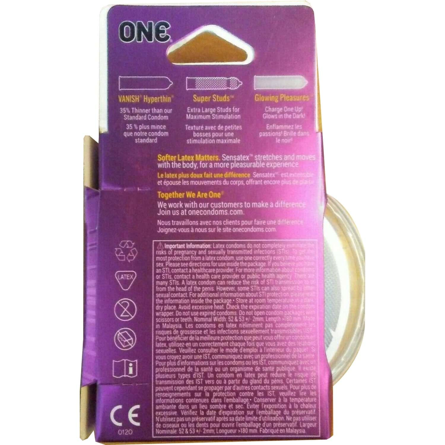 One Mixed Pleasures Unique Condoms From Usa- Pack Of 3