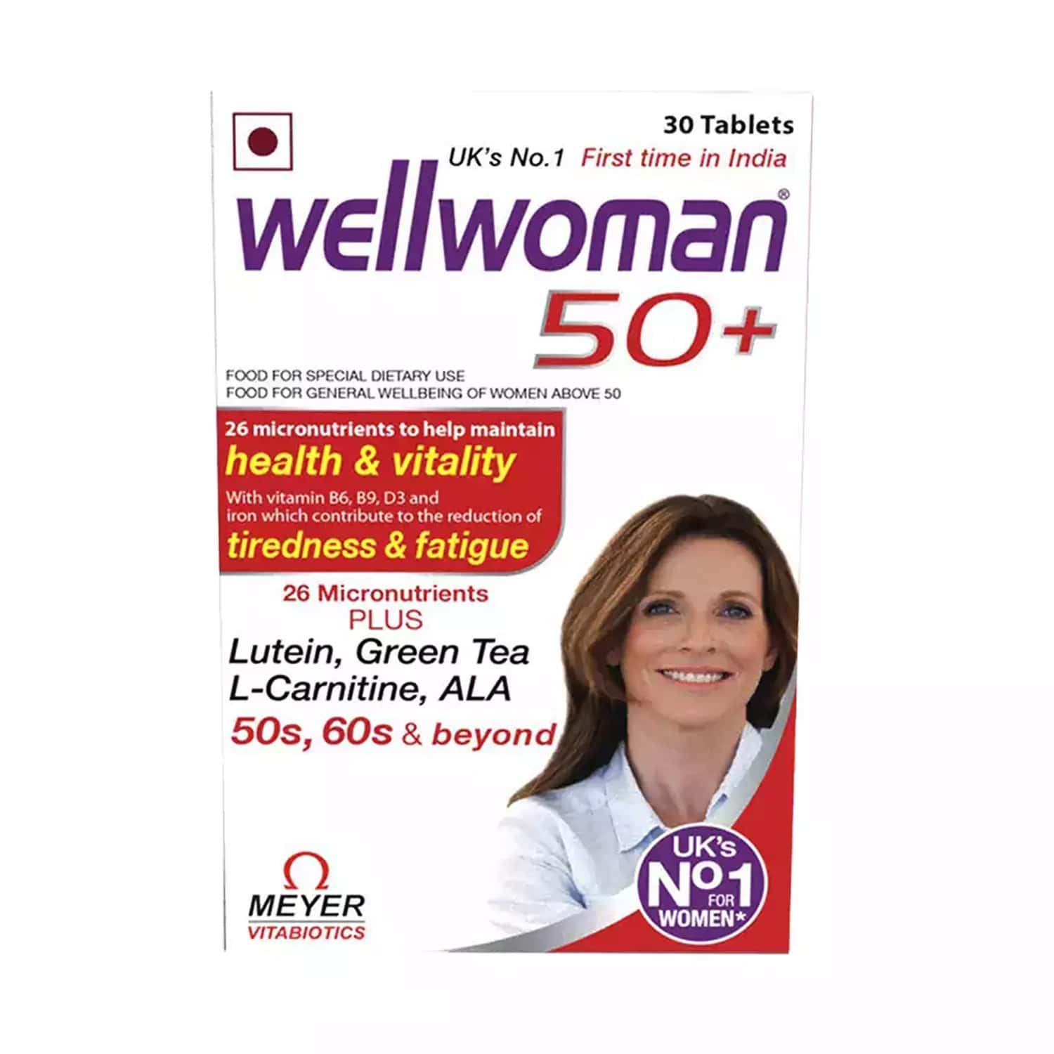 Wellwoman 50+ - Health Supplements (26 Vitamins And Minerals) With Wellman 30 Tablet Free