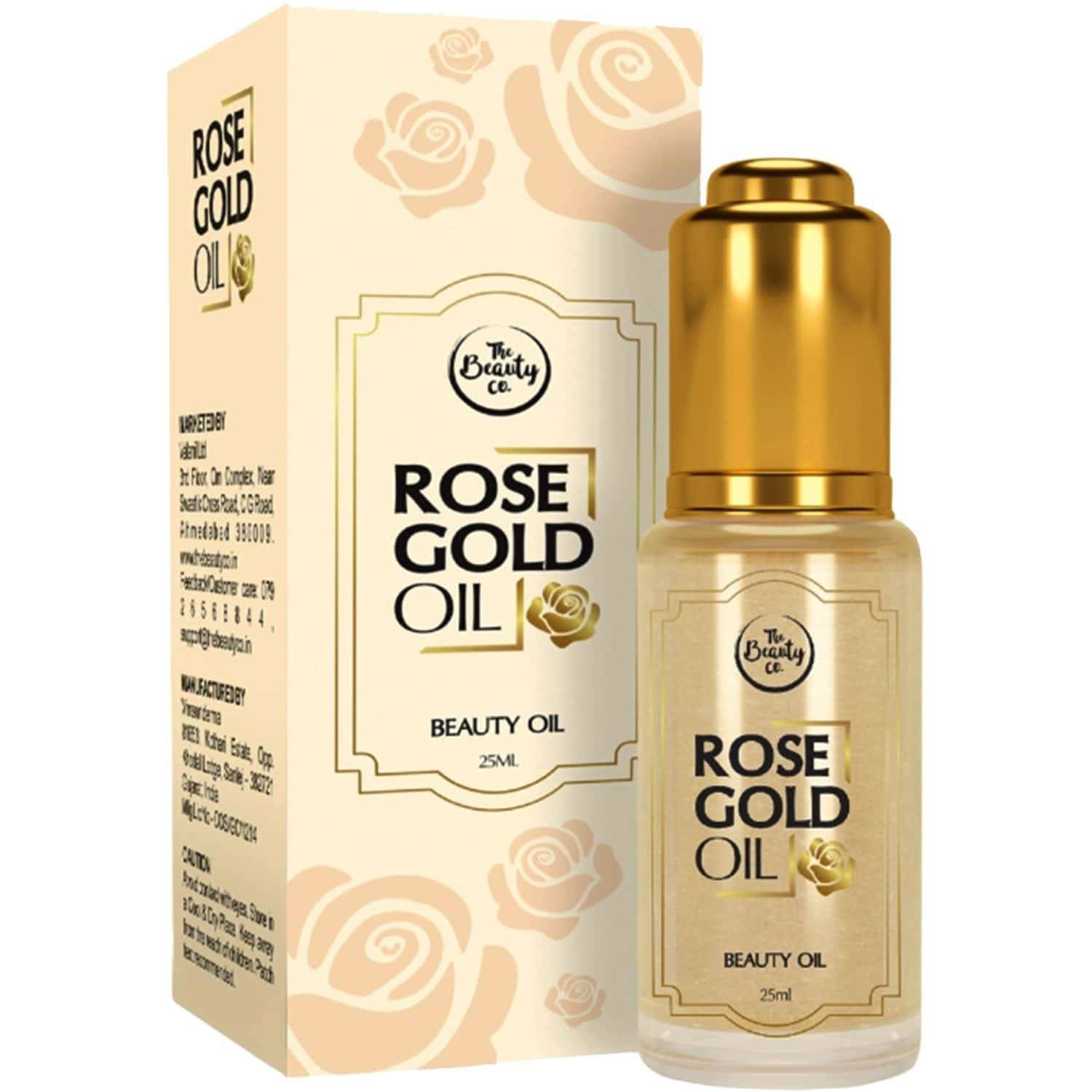 The Beauty Co. Rose Gold Oil 25ml