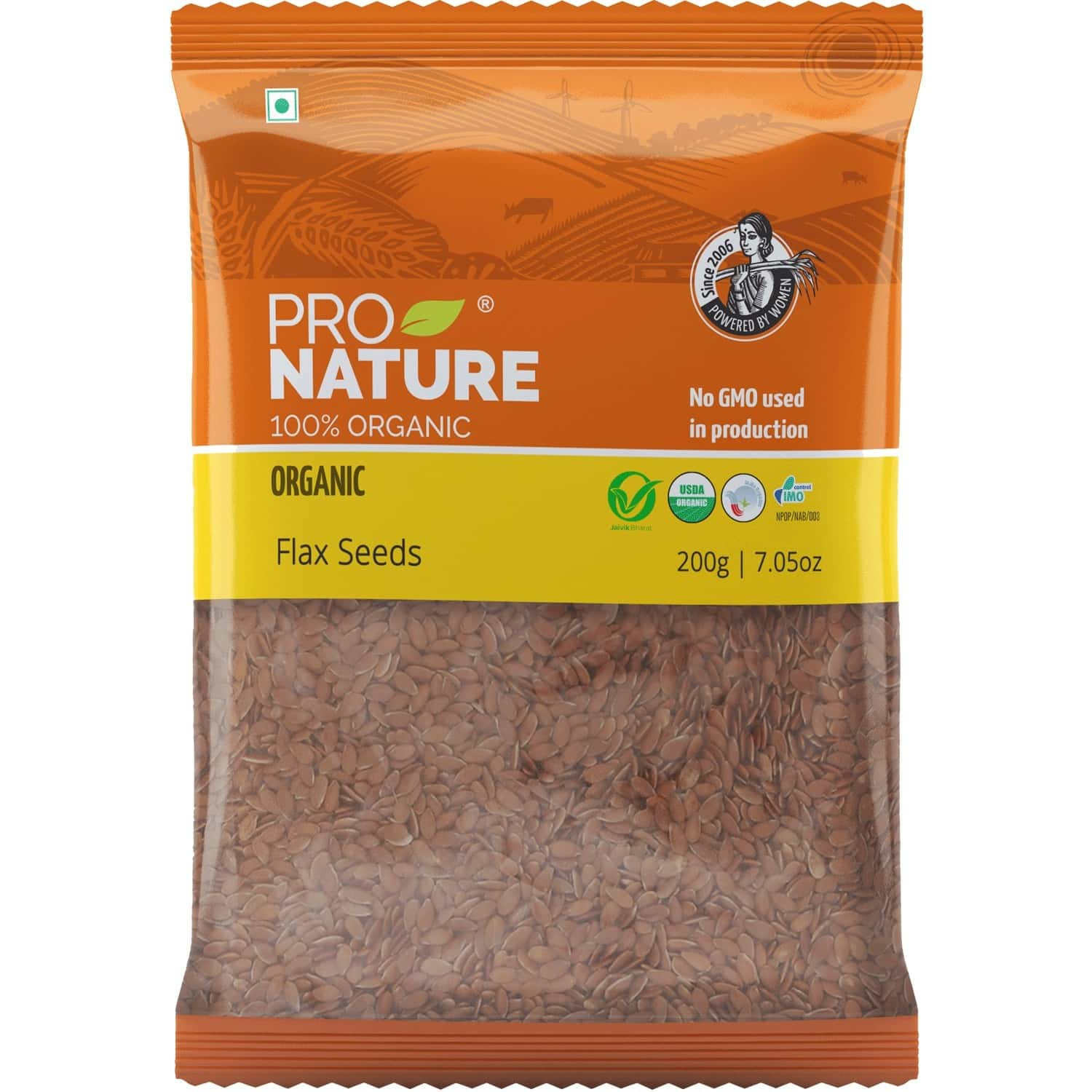 Pro Nature Organic Flax Seeds 200g Pouch
