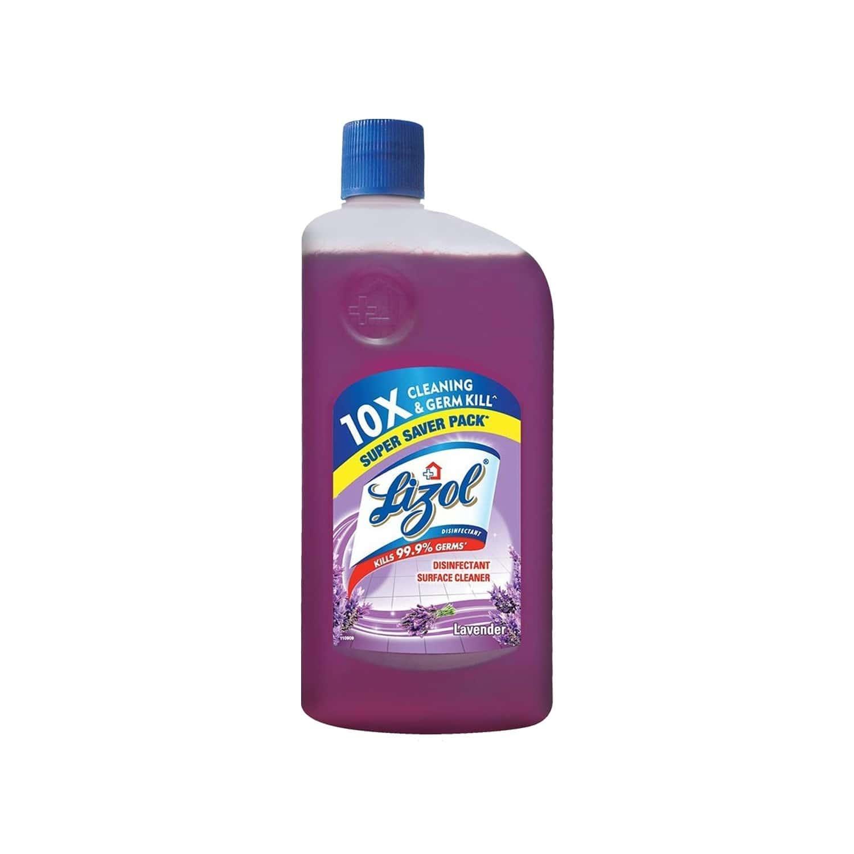 Lizol Lavender Disinfectant Floor Cleaner Liquid Bottle Of 975 Ml