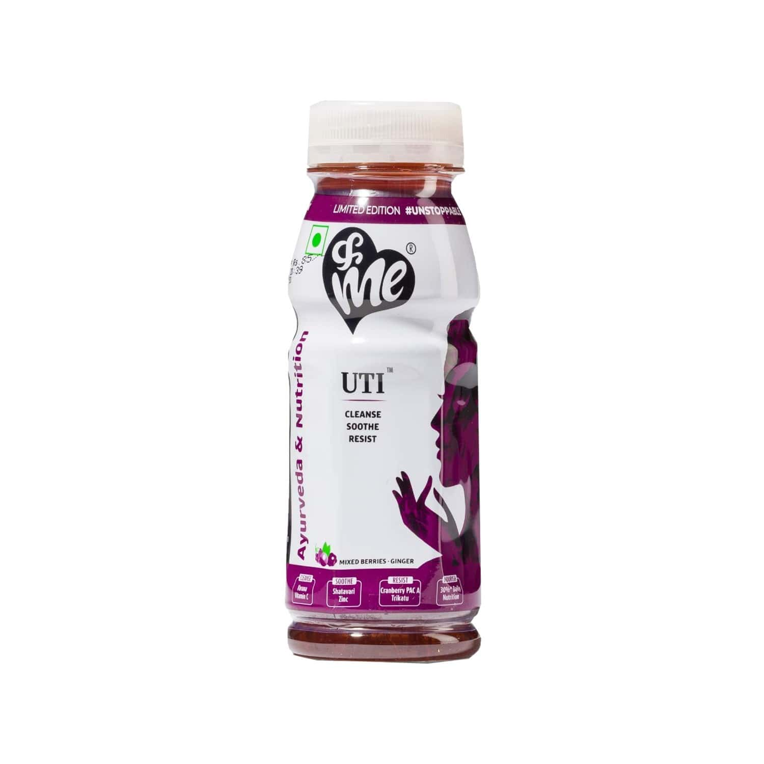 Andme Mixed Berries - Ginger Herbal Drink For Uti With No Added Sugar - 200 Ml