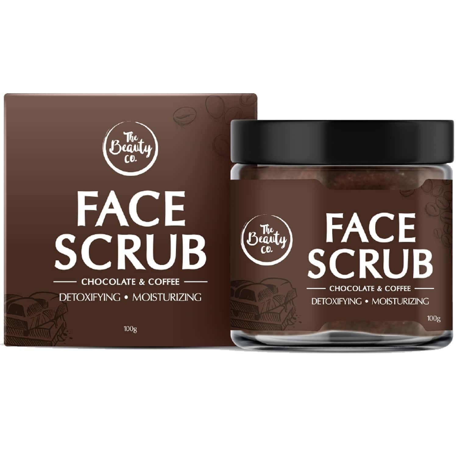 The Beauty Co. Chocolate Coffee Face Scrub, 100gm | Made In India