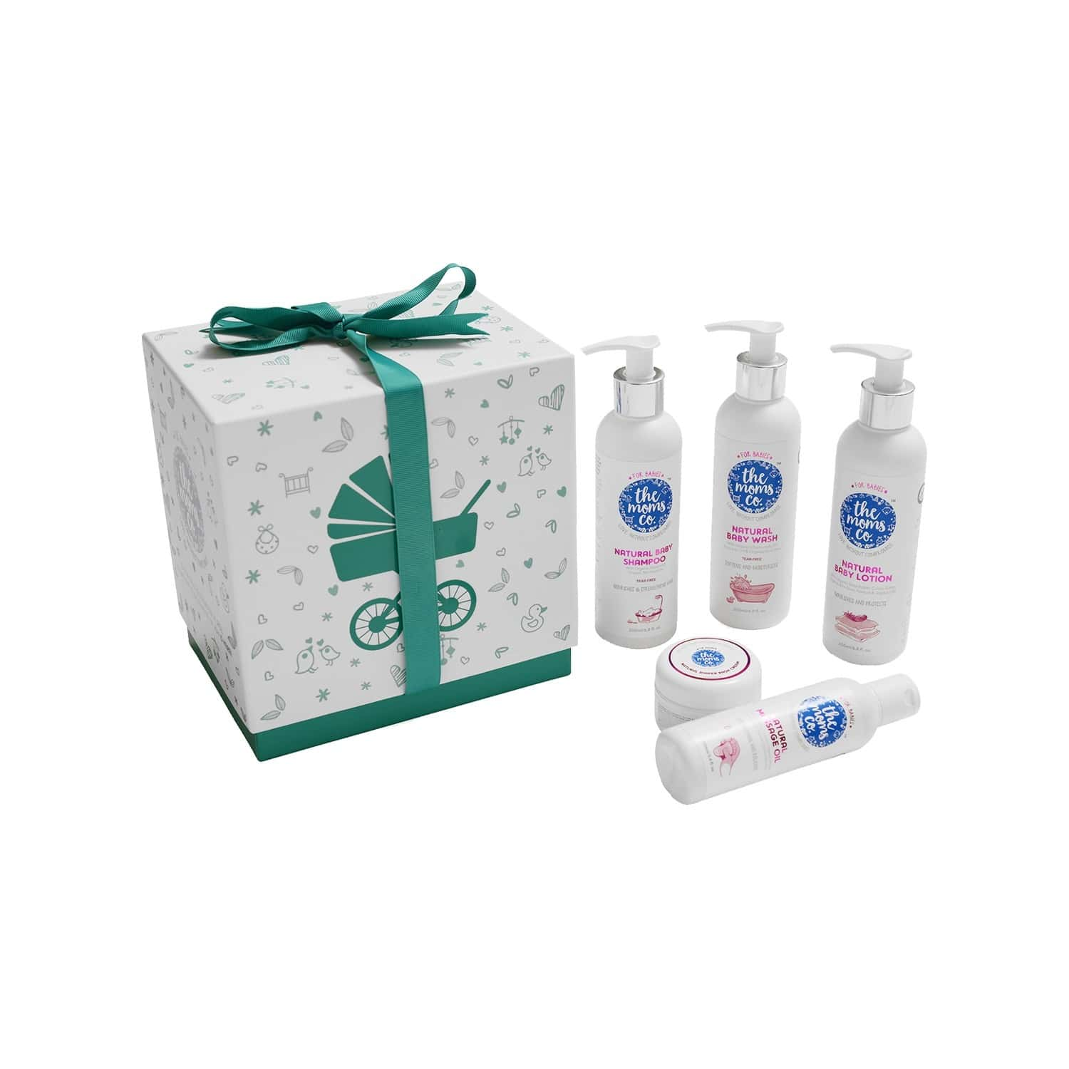 The Moms Co. Everything Baby Suitcase Gift Box Kit Of 6