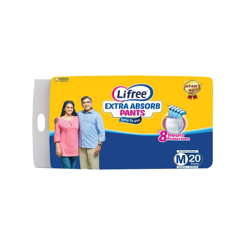 Lifree Medium Size Diaper Pants, Pack Of 10 Diapers (m-20)