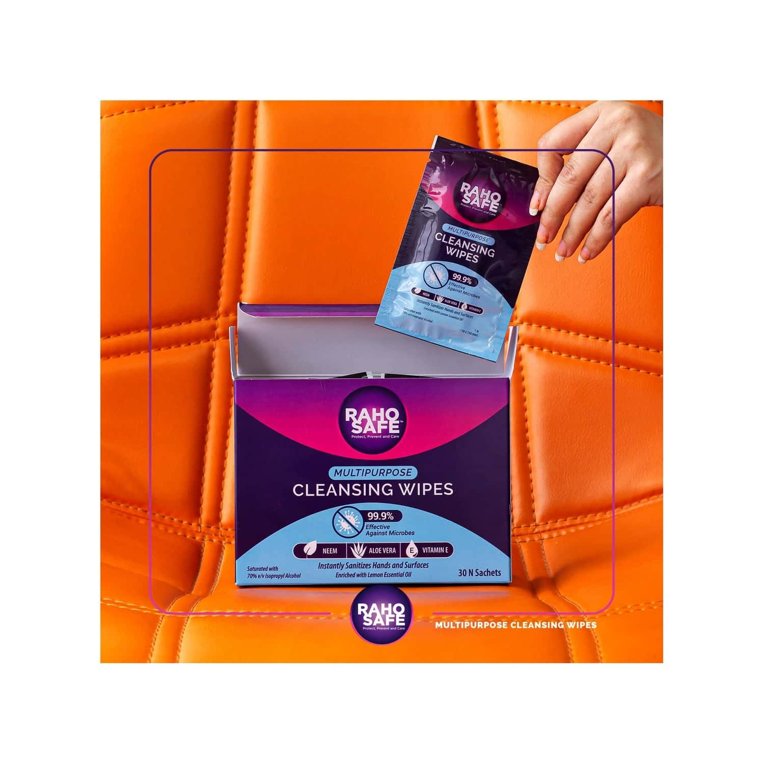 Raho Safe Multi Purpose Cleansing Wipes - Pack Of 30