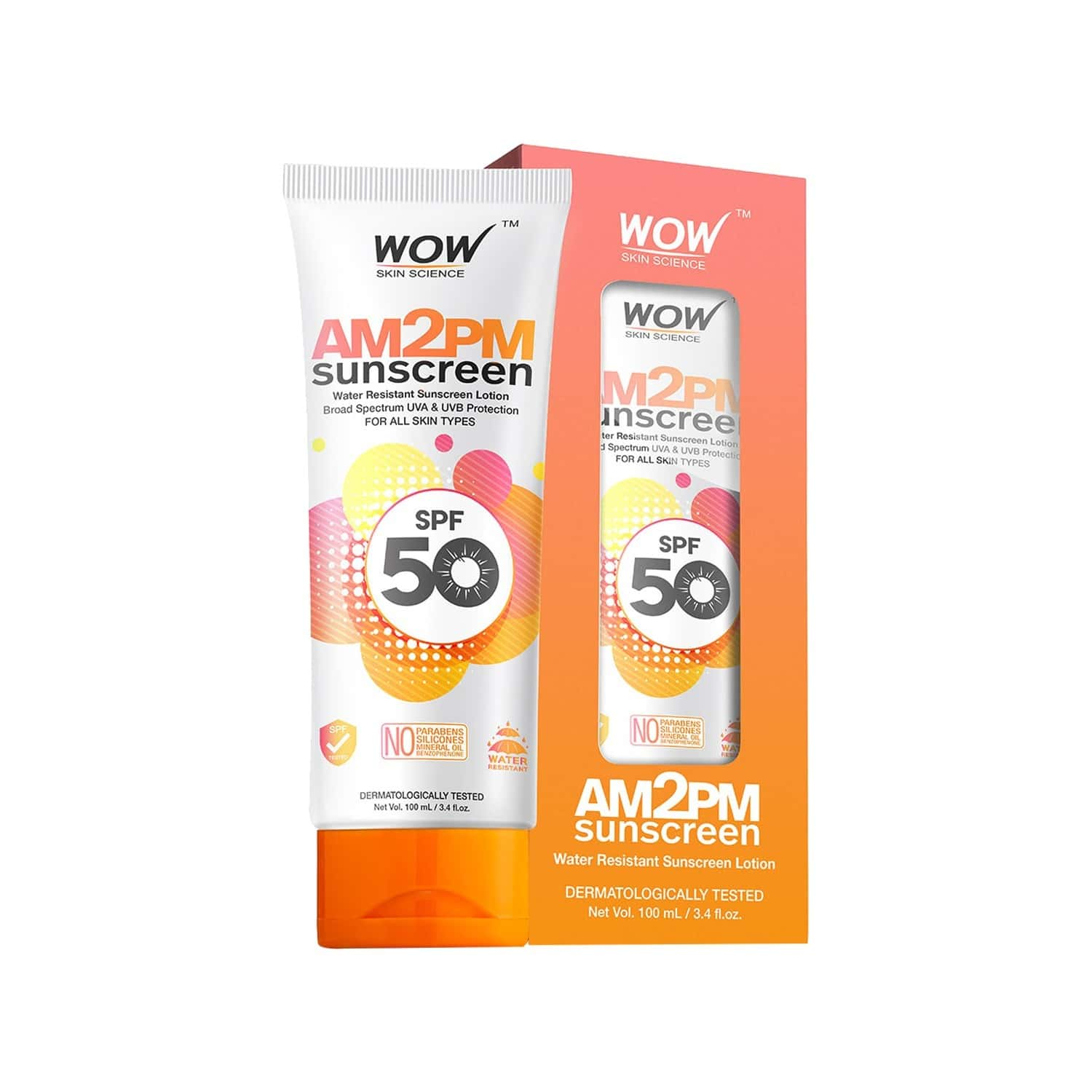 Wow Skin Science Am2pm Sunscreen Lotion - 100 Ml Tube