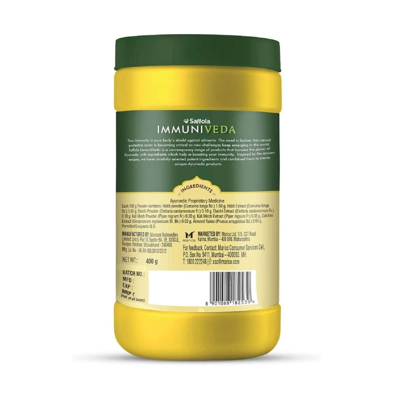 Saffola Immuniveda Golden Turmeric Milk Mix 400 G   Ayurvedic Immunity Booster Haldi Doodh   Healthy Drink For Kids & Adults