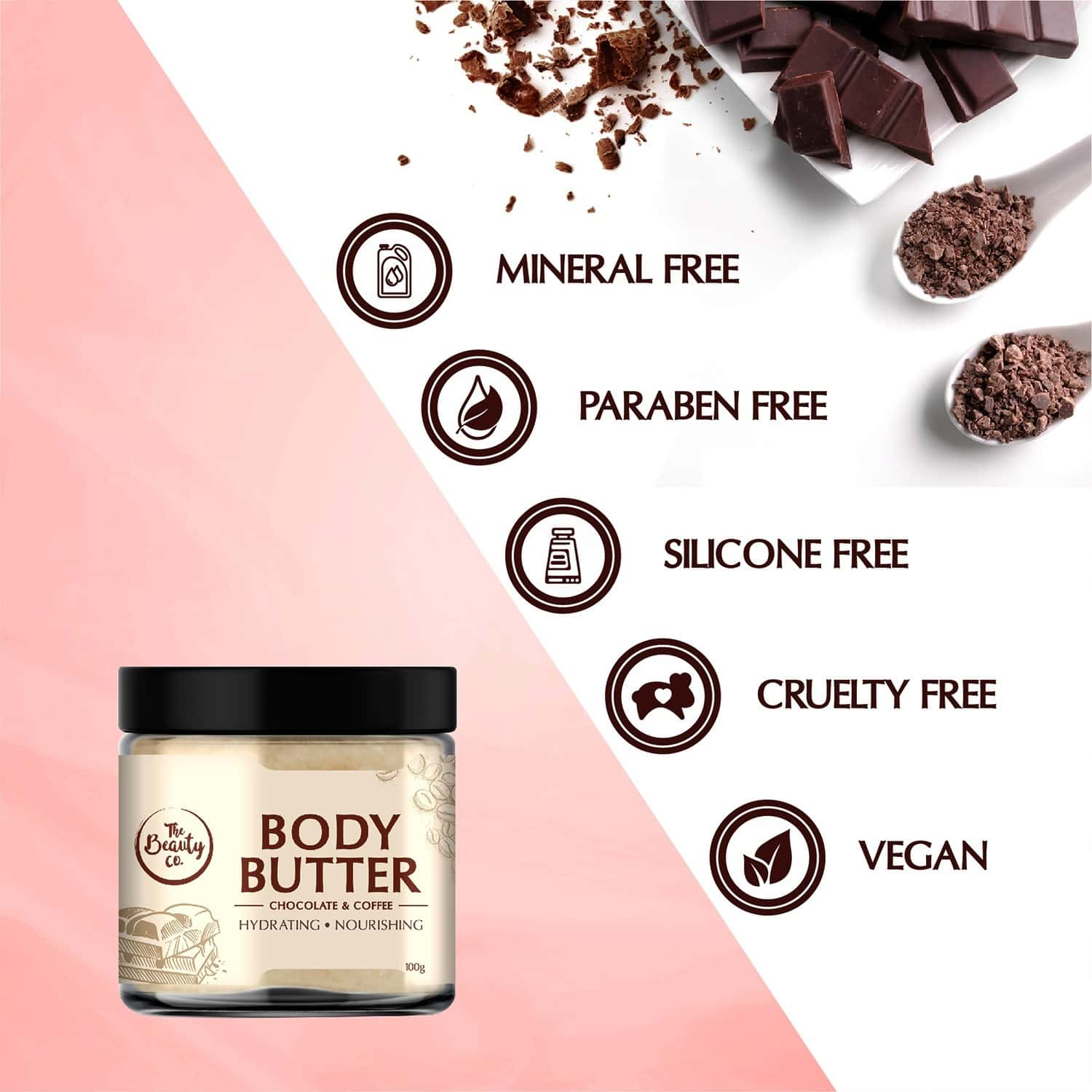 The Beauty Co Chocolate & Coffee Body Butter 100gm