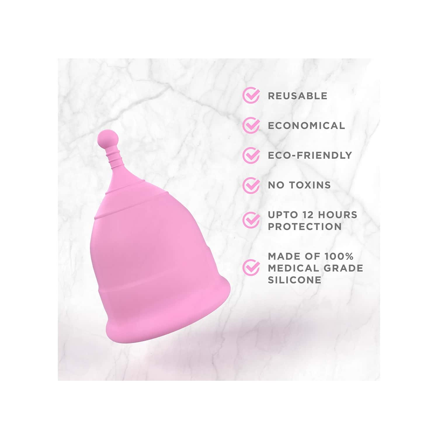 Pee Safe Reusable Menstrual Cup With Medical Grade Silcone For Women - Small